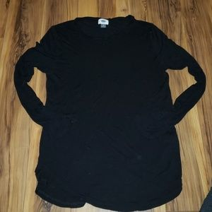 Black long sleeve super stretch shirt
